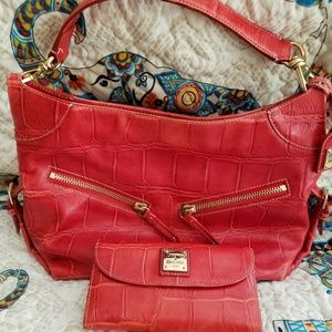 Dooney and Bourke handbag with matching wallet